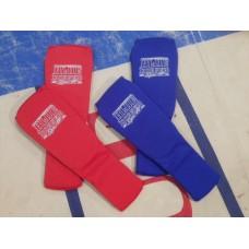 Säärisuoja, sukkamalli Blue Corner Sport (sininen/punainen)