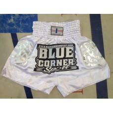 Blue Corner Sport- Shortsit, valkoinen (vaaleat/hopeat kuviot sivuissa)